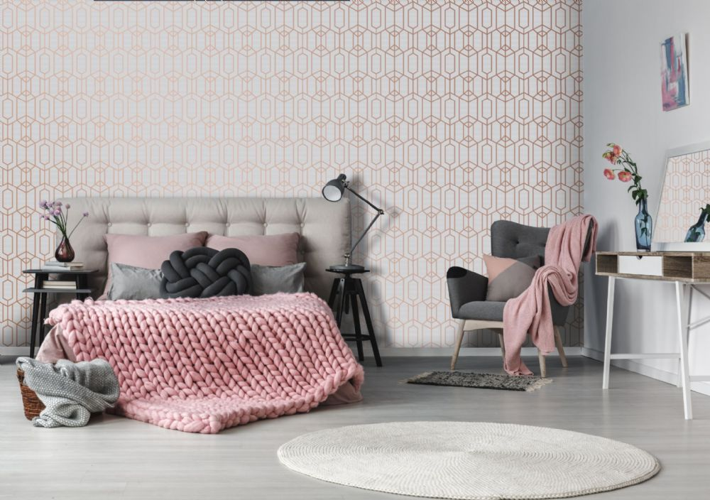 Graham and Brown Albany Pink 106566 Wallpaper PB